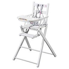 Achat Chaise haute Chaise-Haute Extra-Pliante Sarah - laqué blanc