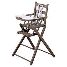 Achat Chaise haute Chaise-Haute Extra-Pliante Sarah - laqué taupe