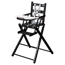 Achat Chaise haute Chaise-Haute Extra-Pliante Sarah - laqué noir
