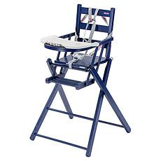 Achat Chaise haute Chaise-Haute Extra-Pliante Sarah - laqué bleu