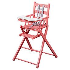 Achat Chaise haute Chaise-Haute Extra-Pliante Sarah - laqué rose