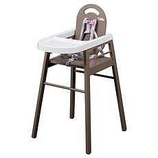 Achat Repas Chaise Haute Fixe Lili - Taupe