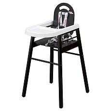 Achat Chaise haute Chaise Haute Fixe Lili - Noir