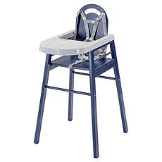 Achat Chaise haute Chaise-Haute Fixe Lili - laqué bleu