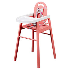 Achat Chaise haute Chaise Haute Fixe Lili - Rose