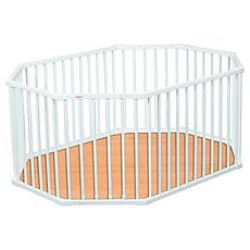 Achat Parc bébé Parc bébé Ovale à Fond pliant Louis - laqué blanc
