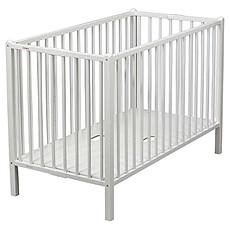 Achat Lit bébé Lit Bébé Pliant Roméo 60 x 120 cm - laqué blanc