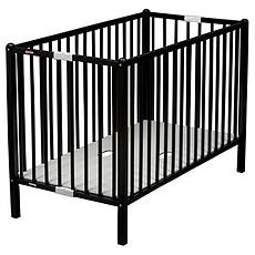Achat Lit bébé Lit Bébé Pliant Roméo 60 x 120 cm - laqué noir