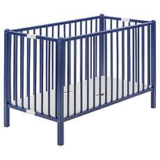 Achat Lit bébé Lit Bébé Pliant Roméo 60 x 120 cm - laqué bleu