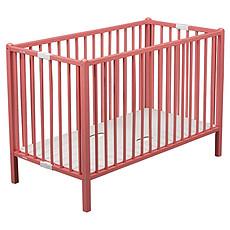 Achat Lit bébé Lit Bébé Pliant Roméo 60 x 120 cm - laqué rose