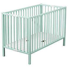Achat Lit bébé Lit Bébé Pliant Roméo 60 x 120 cm - laqué vert mint