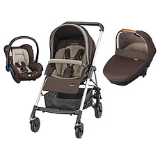 Achat Poussette combinée Poussette trio Streety Amber - Earth Brown