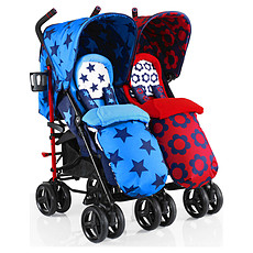 Achat Poussette multiple Poussette Canne Double To & Fro Duo - Hotchpotch