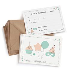 Achat Anniversaire & Fête Lot de 8 Cartes d'Anniversaire + Enveloppes