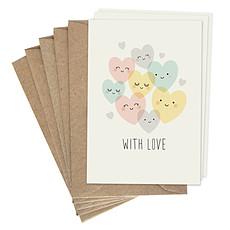 """Achat Livre & Carte Lot de Cartes Doubles """"With Love"""""""
