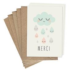 """Achat Livre & Carte Lot de Cartes Doubles """"Merci"""""""
