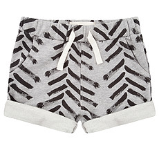 Achat Bas Bébé Short à revers Arrow up gris - 9/12 mois