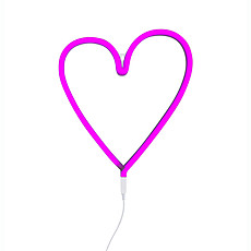 Achat Suspension  décorative Lampe Neon Coeur - Rose