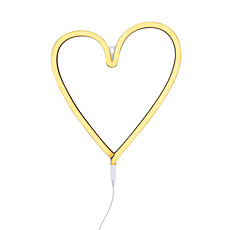 Achat Suspension  décorative Lampe Neon Coeur - Jaune