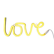 Achat Suspension  décorative Lampe Neon Love - Jaune