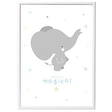 Achat Objet décoration Poster Eléphant - Gris - 50 x 70 cm