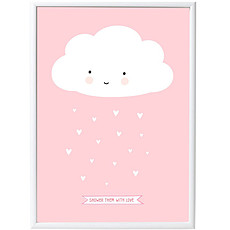 Achat Affiche & poster Poster Nuage - Rose - 50 x 70 cm