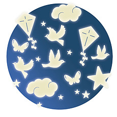 Achat Sticker Dans le Ciel - Stickers Phosphorescents