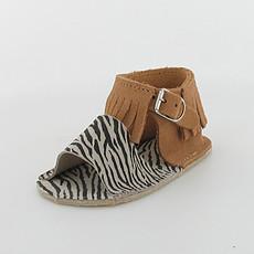 Achat Chaussures Sandales CLOE - Camel / Zèbre