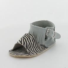 Achat Chaussures Sandales CLOE - Bleu Ciel / Zèbre