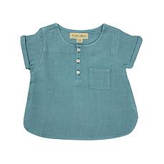 Achat Haut bébé Blouse Manche Courtes - Bleu Horizon