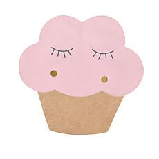 Achat Suspension  décorative Applique Cupcake - Rose
