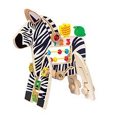 Achat Mes premiers jouets Centre d'Activités en Bois Zèbre