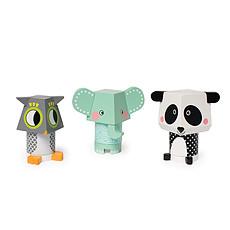 Achat Mes premiers jouets Mix & Match - Panda, Chouette et Elephant