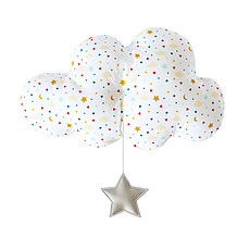 Achat Coussin Grand Nuage Musical Etoiles - 30 cm