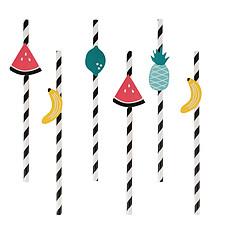 Achat Anniversaire & Fête Pailles - Fruits Exotiques (x 12)