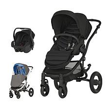 Achat Poussette combinée Poussette Duo Affinity 2 Châssis Noir et Baby Safe Plus SHR II - Full Black