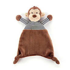 Achat Doudou Doudou Stripy Monkey Soother - 23 cm