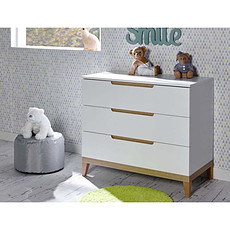 Achat Commode Commode 3 Tiroirs Evidence Blanc/Bois