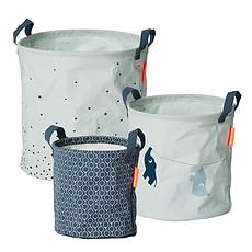 Achat Panier & corbeille Pack de 3 Paniers de Rangement - Bleu