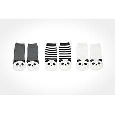 Achat Chaussons & Chaussettes Chaussettes Panda (Lot de 3) - Blanc / Gris / Rayé