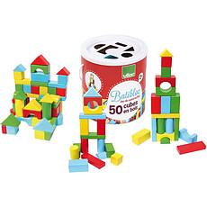 Achat Mes premiers jouets Batibloc 50 Cubes en Bois