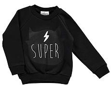 """Achat Haut bébé Sweatshirt """"Super"""" - Noir"""