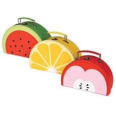 Achat Rangement jouet Set 3 valisettes Fun Fruitty