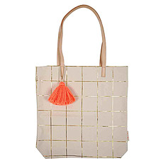 Achat Bagagerie enfant Tote Bag Quadrillage Or
