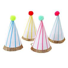 Achat Anniversaire & Fête 8 Chapeaux Pompons Rayures Fluos