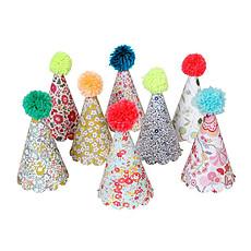 Achat Anniversaire & Fête 8 Chapeaux Pompons Liberty