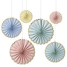 Achat Anniversaire & Fête 6 Rosaces en Papier Pastel