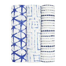Achat Lange Pack de 3 Maxi-Langes Silky Soft - Indigo Shibori