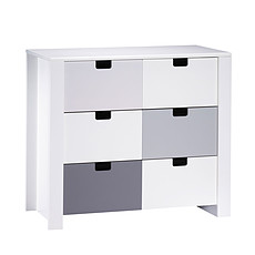 Achat Commode Commode 3 Tiroirs CITY - Gris