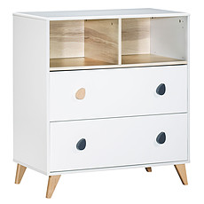 Achat Commode Commode 2 Tiroirs 2 Niches OSLO